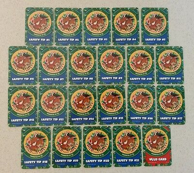 Disney's Wild About Safety Complete 22 Card Set featuring Pumbaa and Timon
