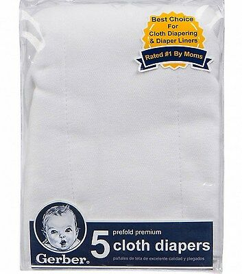 5 Premium Prefolded CLOTH DIAPERS COTTON 6 ply Gauze polishing cleaning GERBER