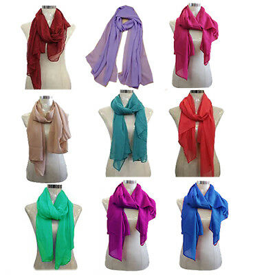 Job Lot of 20 PCS Ladies Scarf Best ReSeller Plain Colour Large Size Simply Best