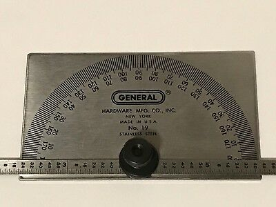 General Tools 19 Depth Gage-Protractor, Used