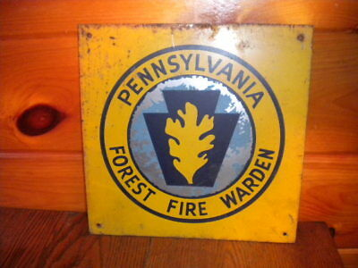 Vintage PENNSYVANIA FOREST FIRE WARDEN Metal Sign