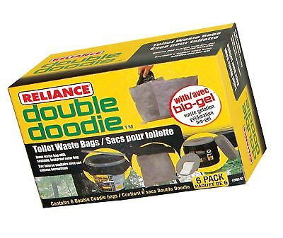 Reliance Products Double Doodie Toilet Bag 6-Pack