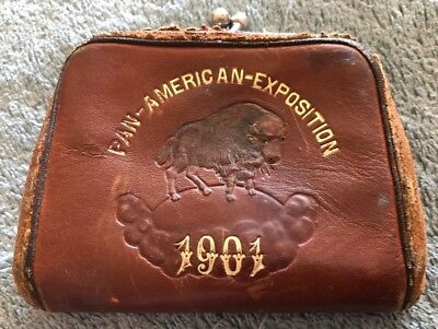 RARE 1901 Pan-American Exposition Buffalo, NY Small Coin Purse