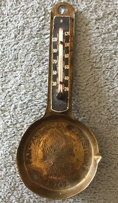 RARE 1901 Pan American Exposition Buffalo, NY Small Souvenir Pan Thermometer