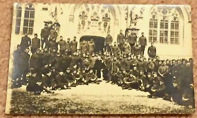 Rppc Postcard Ameriican Soldiers At Hautecombe Abbey France 1919