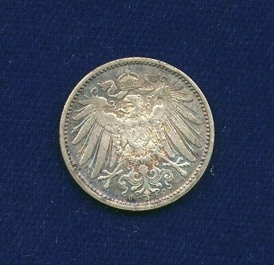 Germany Empire  1912-J  1 Mark Silver Coin, Almost Uncirculated, Low Mintage!