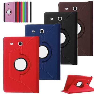 """360 Rotation Leather Stand Case Cover Samsung Galaxy Tab E 4/3/2 A 7"""" 9.7"""" 10.1"""""""