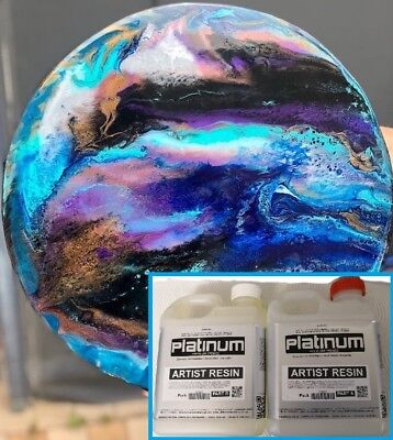 EPOXY ARTIST RESIN - ULTRA CLEAR coating - UV stable 1 ltr kit - 1:1 ratio