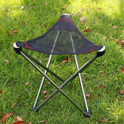 Aluminum Portable Folding Tripod Stool Chair Seat for Fishing Camping Beach