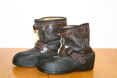 Vintage WWII Type A-6 Sheepskin USAAF Army Air Force Bomber Boots M Bristolite