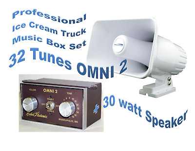 ICE CREAM TRUCK, VAN MUSIC BOX - OMNI 2 & MATCHING 25 Watt All Weather Speaker