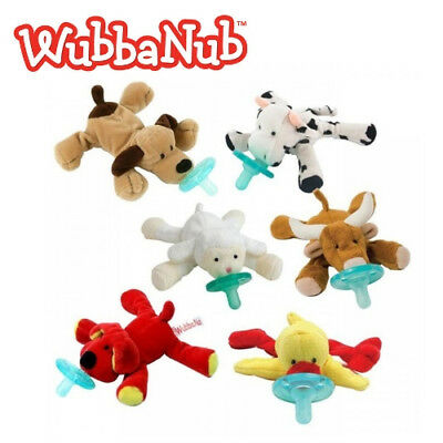 WubbaNub Pacifier Toy Baby Dummy Chain Clip Animal Plush Soother Teething Nipple