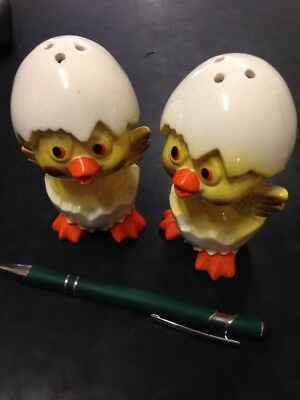 Vintage Salt And Pepper Shakers Hatched Chickens Japan