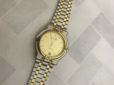 58232c184b4 GUCCI Gents Two Tone Stainless Steel 9000M Luxury Swiss Made Dress Watch