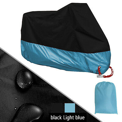 XXXL 190T Motorcycle Cover Lingt Blue Universal for Touring Cruiser Road Bikes