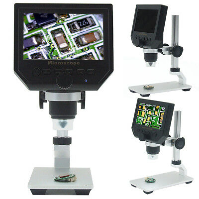 Digital 4.3inch HD LCD Display Microscope Continuous Magnifier with Metal Stand