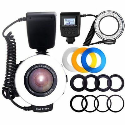 Macro 48 LED Ring Flash Light RF550D for Nikon Canon Olympus DSLR Camera