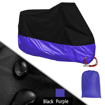 XXXL 190T Universal Purple Motorcycle Cover For Outdoor Rain Dust UV Protector