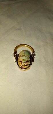 Ancient Egyptian Egypt antique Copper RING with Scarab j New Kingdom1550–1070 BC