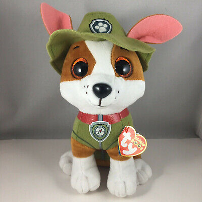 "2018 TY Beanie Buddy 10"" Medium Paw Patrol TRACKER Chihuahua Dog Plush MWMT's"
