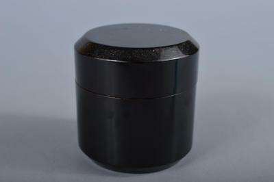 R5617: Japanese Wooden Lacquer ware TEA CADDY Natsume Chaire Container