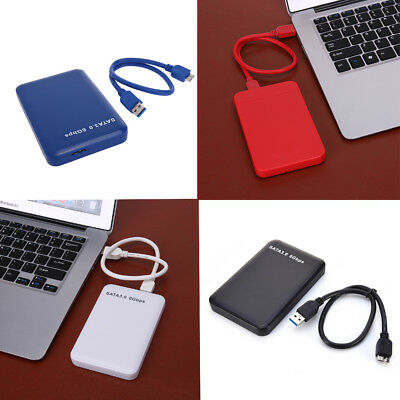 """2.5"""" USB 3.0 SATA HDD Disque dur Boîtier externe HDD SSD Disk Box Case 3To 6Gbps"""