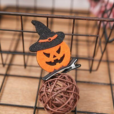 Creative Halloween Pumpkin Cat Children Hairpin Head-wear Props EO