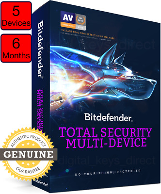 Bitdefender Total Security 2019 ⭐ 5 Devices | 6 Months ⭐ INSTANT DELIVERY
