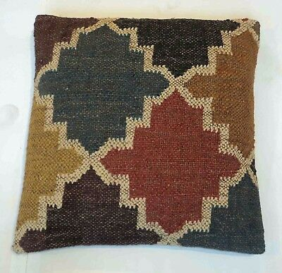 Attractive Designer Jute Wool Fabric Cushion Cover 40' x 40' Cm Cover