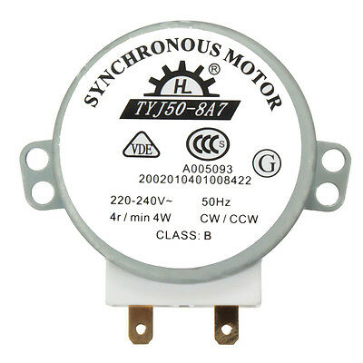 CW/CCW Microwave Turntable Turn Table Synchronous Motor TYJ50-8A7D Shaft FR