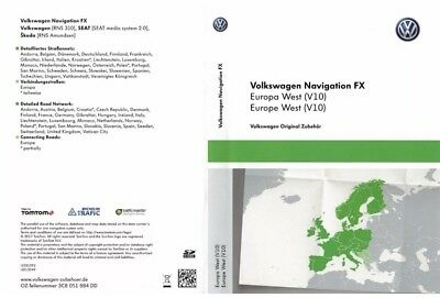VW RNS 310 FX Version V10 Navigation SD CARD WEST MAP EUROPA 2018
