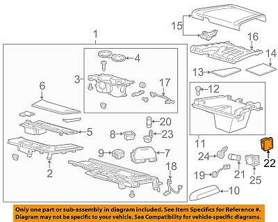 GM OEM Center Console-Auxiliary Radio Stereo Input Jack 20870101
