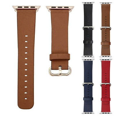Unisex Men Women PU Leather Wrist Bands Straps For Apple Watch iWatch 38mm 42mm