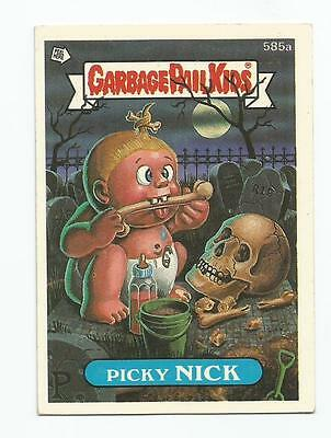 Picky Nick 585a Garbage Kübel Kinder GPK Original Series 15 Karte 1988