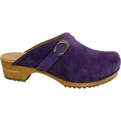 Sanita Hedi Open Clog Damen Clogs Veloursleder Purple Violett