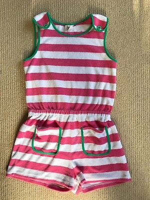 Mini Boden striped Girls towelling playsuit age 11 - 12 years