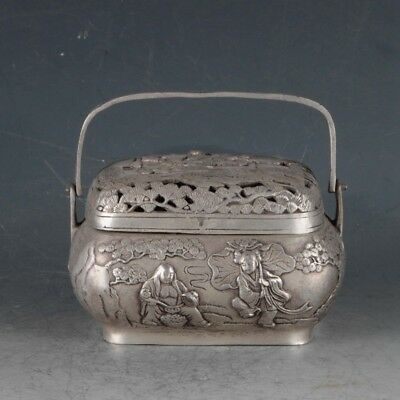Chinese Rare Silvering Copper Incense Burner Made During The Daqing Period