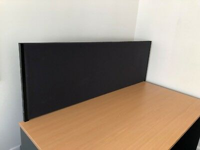 Desktop Partition - Grey pin-able fabric - Great for Privacy & Noise Reduction