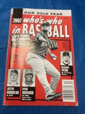 """2007 Who's Who In Baseball Book Johan Santana On Front Cover """"Sale"""""""