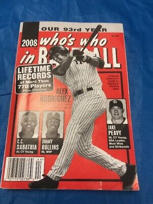"""Who's Who In Baseball 2008 Book Alex Rodriguez On Front Cover """"Sale"""""""