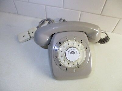 1962 RETRO 801 Series  PMG MIST GREY Telephone VGC. Tested & Working FIRST YEAR