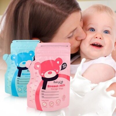 30PCS Pre-Sterilised Breastmilk Baby Breast Milk Storage Zipper Seal Bag Pouches
