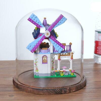 Glass Dome Cover with Wooden Base for Party Festival Wedding Xmas DIY Decor