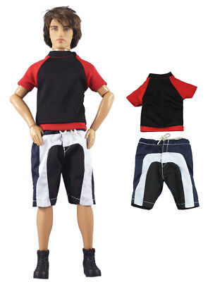 Fashion Outfits/Clothes/Uniform Tops+Pants For 12 inch Ken Doll B41