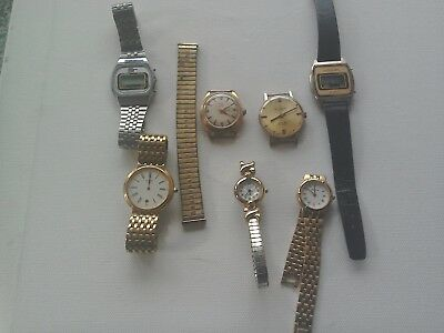 Job lot of Vintage MIXED WATCHES for repairs or spare