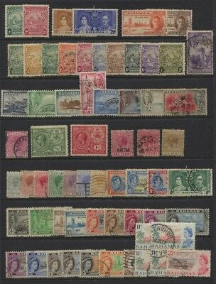 Bahamas / Barbados Mostly Used on Page to 1967 CV $80+