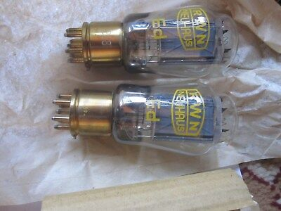 2x RFT Ed Triode DHT ähnlich AD1 Valvo EbIII Telefunken New OVP matched pair