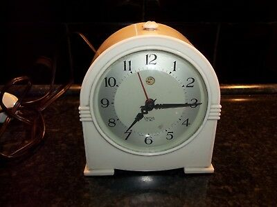 Vintage Bakelite Smiths Art Deco Sectric Electric Clock Not Tested