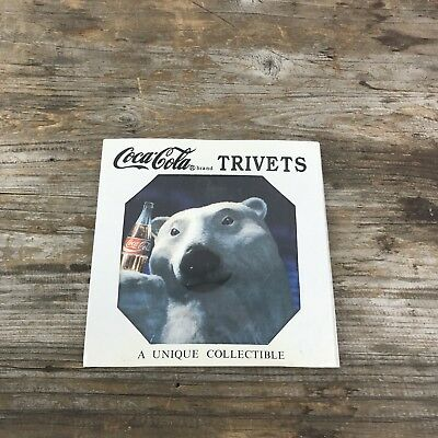 Polar Bear Coca Cola Trivet Circa 1995 Collectible 6 x 6