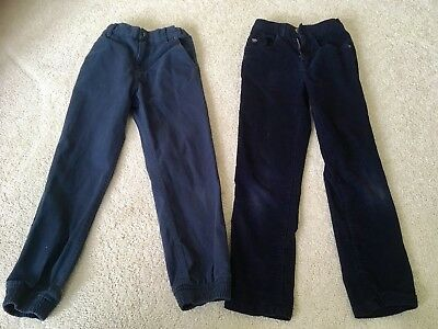 One Pair Of Navy Blue boys trousers &  Jasper Conran Corduroy Trousers age 9-10